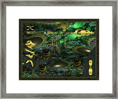 Welcome To Cosmic City Framed Print
