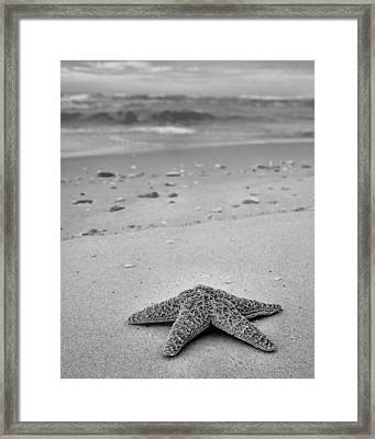 Welcome To Destin Bw Framed Print by JC Findley
