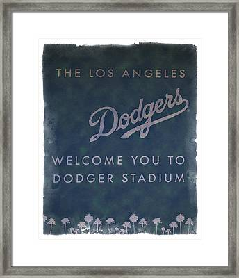 Welcome To Dodgers Stadium - Impressions Framed Print by Ricky Barnard