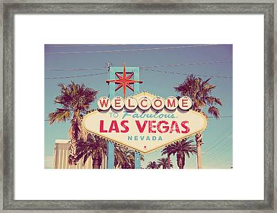 Welcome To Fabulous Las Vevas Framed Print