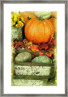Welcome To Fall Framed Print
