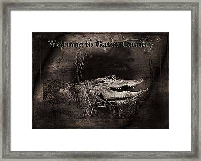 Welcome To Gator Country Framed Print by Mark Andrew Thomas