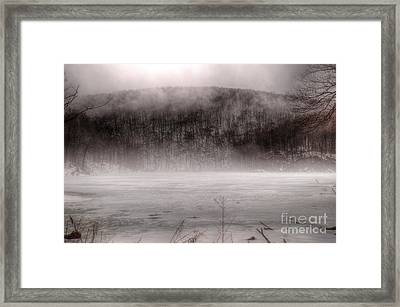 Welcome To Ghost Lake Framed Print by Jeffrey Miklush