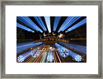 Welcome To Golden Framed Print by Juli Scalzi