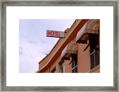 Welcome To Hotel Ventimiglia Framed Print by Benoit Charon