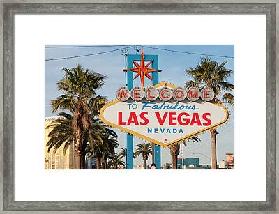 Welcome To Las Vegas Sign, Las Vegas Framed Print