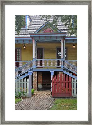 Welcome To Laura Framed Print by Cheri Randolph