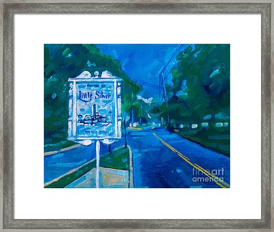 Framed Print featuring the painting Welcome To Little Silver by Michael Ciccotello