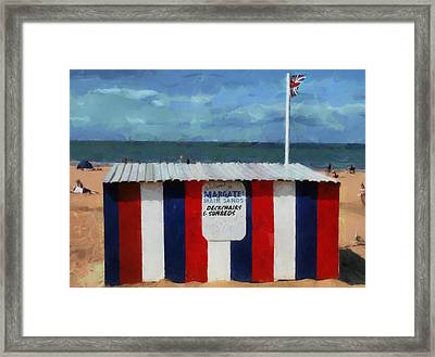 Welcome To Margate's Main Sands Framed Print