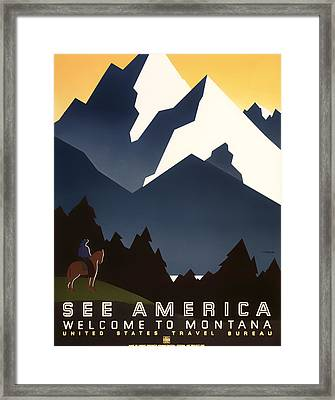 Welcome To Montana Framed Print