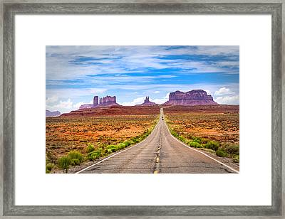 Welcome To Monument Valley Framed Print