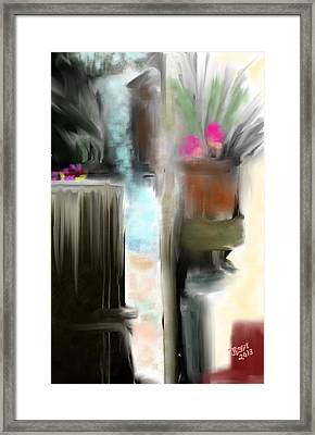 Framed Print featuring the painting Welcome To My Backyard by Jessica Wright