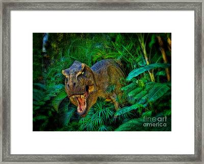 Welcome To My Park Tyrannosaurus Rex Framed Print