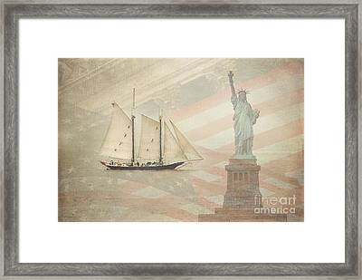 Welcome To Nyc Framed Print by Hannes Cmarits