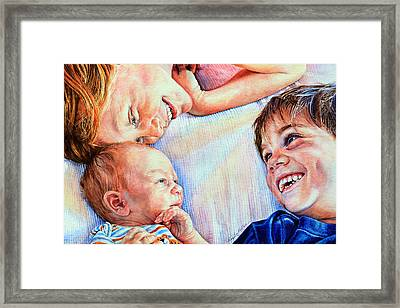Welcome To Our World Framed Print by Hanne Lore Koehler