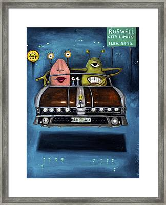 Welcome To Roswell Framed Print by Leah Saulnier The Painting Maniac