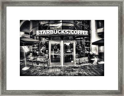Welcome To Starbucks Framed Print