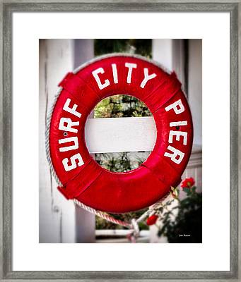 Welcome To Surf City Framed Print