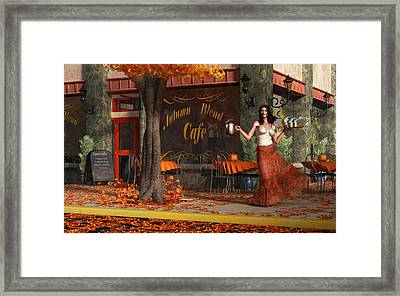 Welcome To The Autumn Blend Cafe Framed Print by Daniel Eskridge