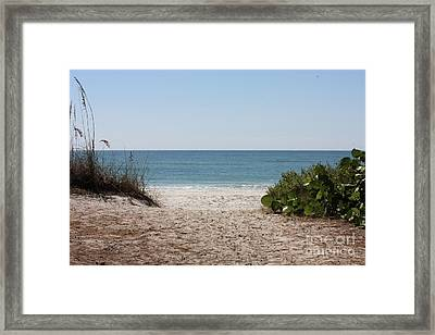 Welcome To The Beach Framed Print