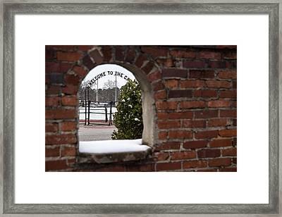 Welcome To The Cage Framed Print