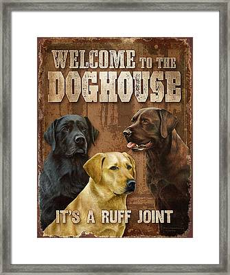 Welcome To The Dog House Framed Print by Nigel Hemming