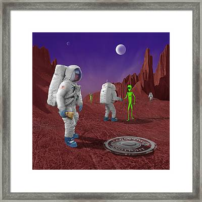 Welcome To The Future Framed Print