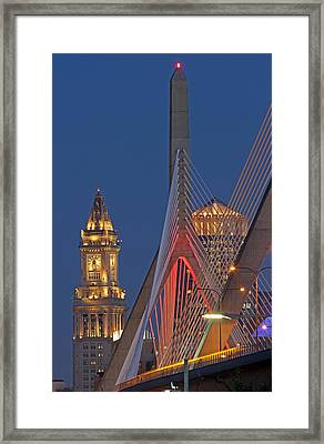 Welcome To The Great City Of Boston Framed Print