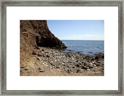 Welcome To The Island Framed Print by Amanda Barcon