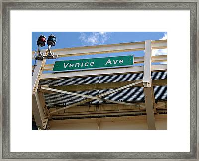 Welcome To The Island Framed Print