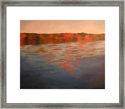 Welcome To The Lake Framed Print