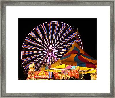 Welcome To The Nys Fair Framed Print by Richard Engelbrecht