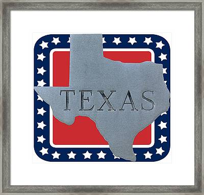 Welcome To The State Of Texas Framed Print by Christine Till