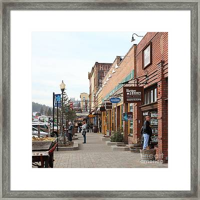 Welcome To Truckee California 5d27445 Square Framed Print by Wingsdomain Art and Photography
