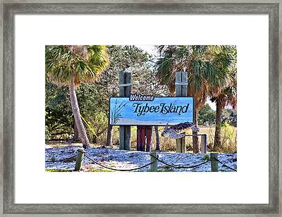 Welcome To Tybee Framed Print by Gordon Elwell