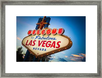 Welcome To Vegas Framed Print by Inge Johnsson