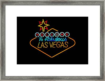 Welcome To Vegas Framed Print by John Hix