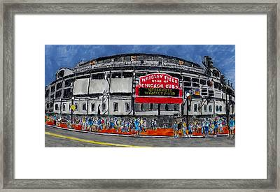 Welcome To Wrigley Field Framed Print