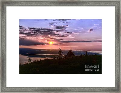 Welcoming A New Day Framed Print by Arnie Goldstein
