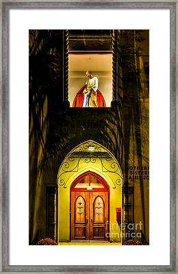 Jesus And Joseph Framed Print by Paula Porterfield-Izzo