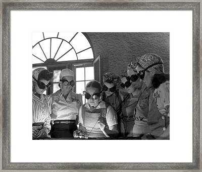 Welding Training For Women Framed Print by Everett