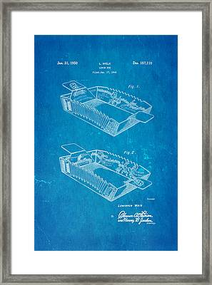 Welk Accordion Lunch Box Patent Art 1950 Blueprint Framed Print