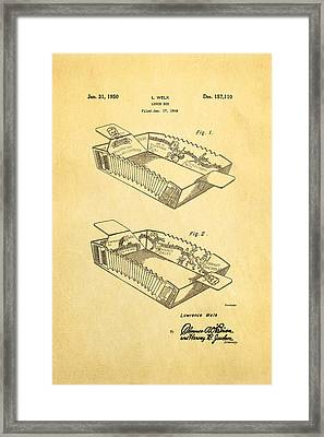 Welk Accordion Lunch Box Patent Art 1950 Framed Print