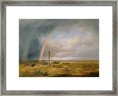 Well Against A Rainbow Framed Print by Karoly I Marko