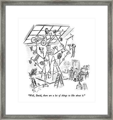 Well, David, There Are A Lot Of Things To Like Framed Print by Everett Opie