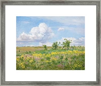 Well-dressed Land Framed Print by Victoria Kharchenko