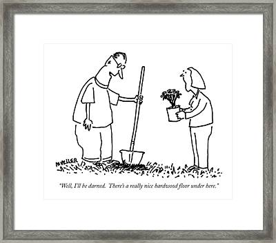 Well, I'll Be Darned.  There's A Really Nice Framed Print