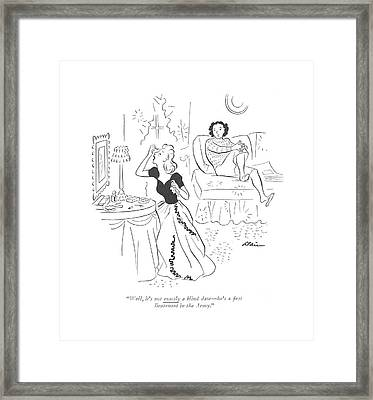 Well, It's Not Exactly A Blind Date - He's A ?rst Framed Print by  Alain