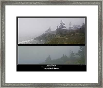 Framed Print featuring the photograph We'll Keep The Light On For You by Marty Saccone
