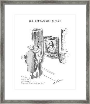 Well, Now We've Seen That, Augusta. Cross Framed Print by Helen E. Hokinson